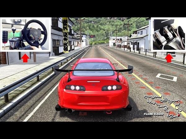 The Return of Fujimi Kaido - (Complete Drift Lap in Toyota Supra!) Assetto Corsa w/Steering Wheel!