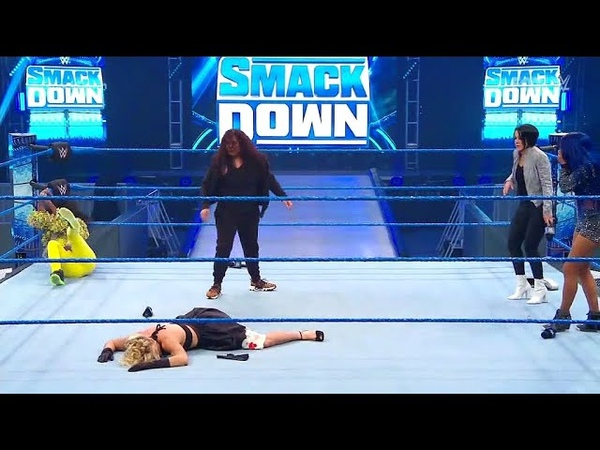 Tamina Smashes Lacey Evans and Naomi Smackdown 27th March 2020