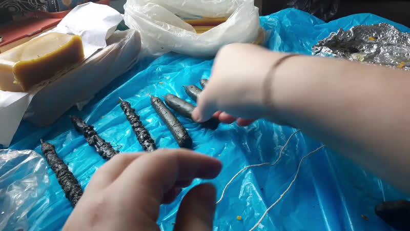 Процесс изготовления свечей Сегодня полнолуние время избавляться от ненужного