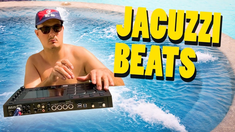 MAKING BEATS in the JACUZZI Sample based Hip Hop MPC LIVE LOFI Soul Boom Bap