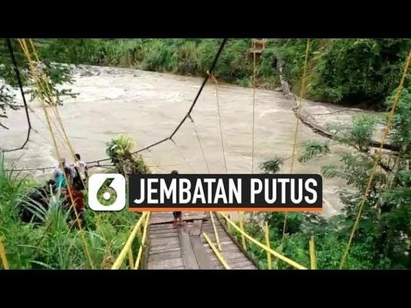 Jembatan Gantung di Bengkulu Putus 10 Tewas
