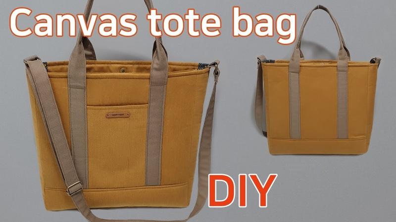 DIY Canvas tote bag Canvas bag tutorial 캔버스백 만들기 Mach eine Leinentasche
