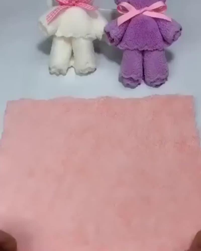 мишки из полотенец