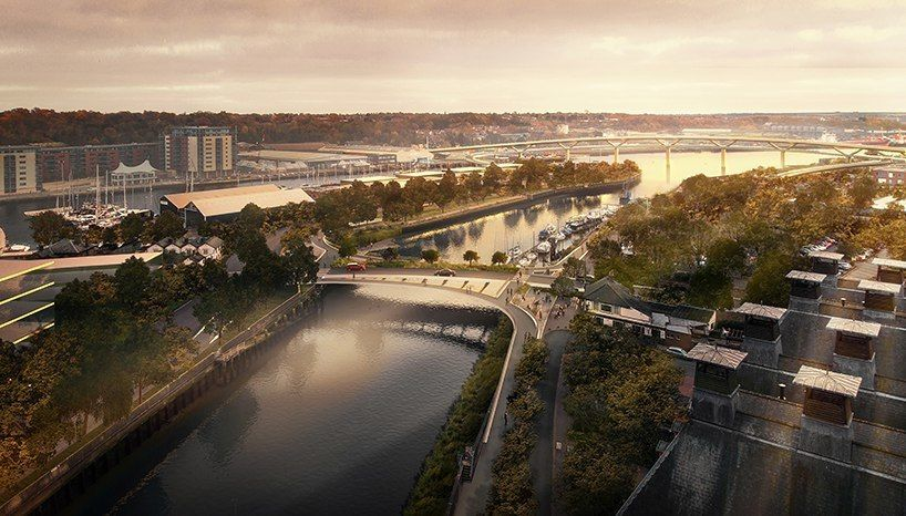foster   partners wins competition to revitalize central ipswich with two river crossings