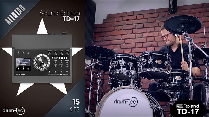 Roland TD 17 AllStar Sound Edition Custom kits by drum tec