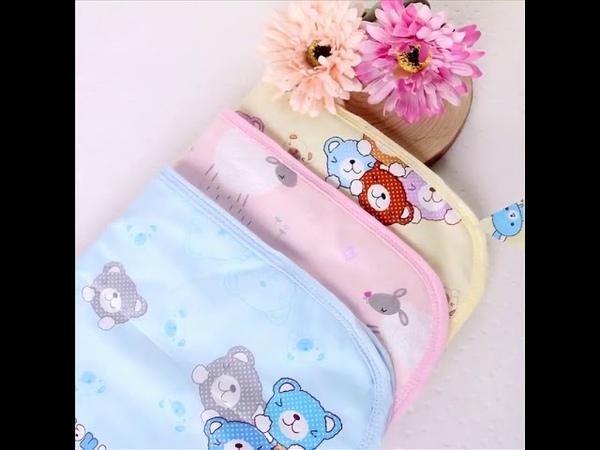Водонепроницаемый пеленальный матрас для младенцев многоразовый коврик для мочи с рисунком