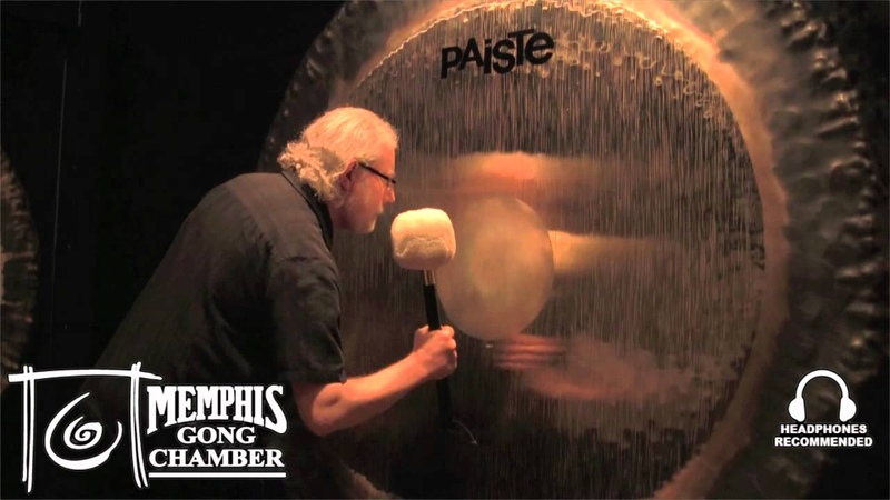 80 Paiste Symphonic Gong Played by Michael Bettine at Memphis Gong Chamber