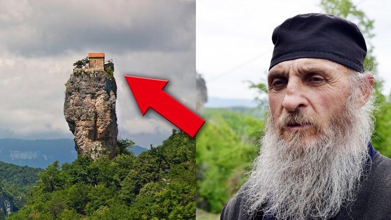Столп Кацхи Грузия Как на 40 метровой отвесной скале оказался дом и церковь