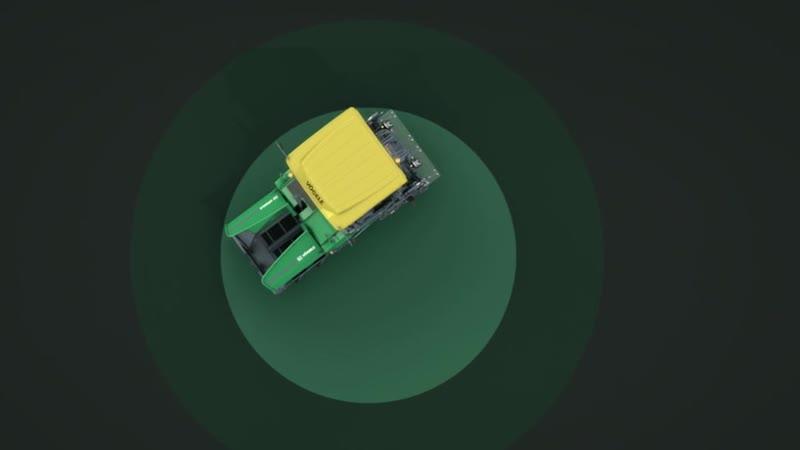 Высокая маневренность колесных укладчиков Vogele с активным тормозом рулевого управления Pivot Steer
