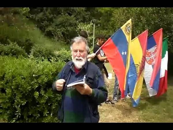 COMMEMORAZIONE DEL NATALE DI ROMA DAVANTI ALLA STATUA DI SIMON BOLIVAR