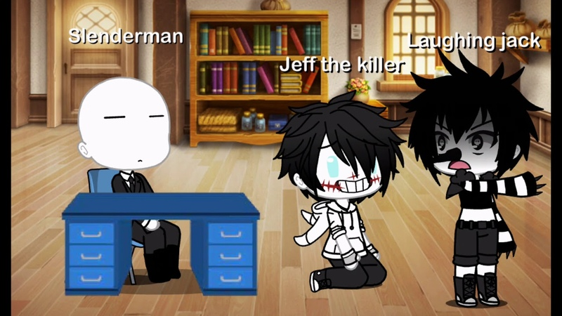 ¡¡ME TIRÓ POR LA PUT S ESCALERAS Meme Gacha life Laughing Jack y Jeff The Killer