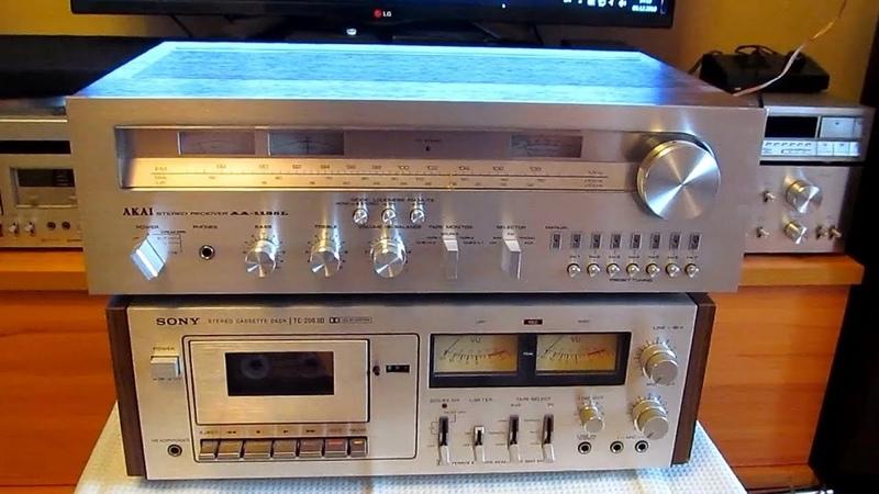 AKAI - 1135 L стерео ресивер 1979 год (единственное видео на Youtube оказывается), Япония.