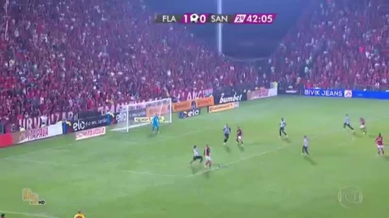 Gol do Cuellar Flamengo 2 x 0 Santos Copa do Brasil 2017