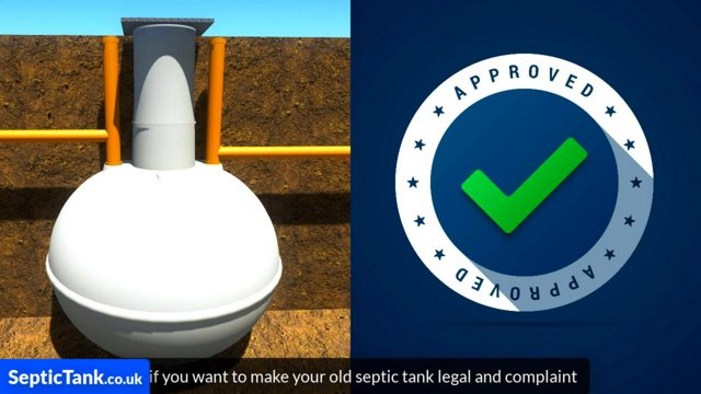 Septic tank baffle replacement