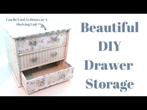 Beautiful DIY Drawer Storage