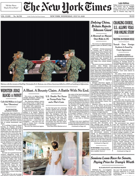 The New York Times - 15 July 2020