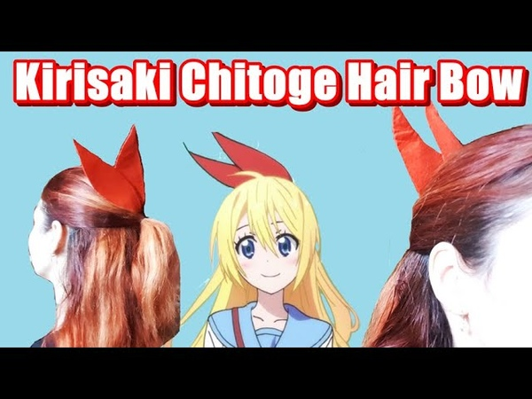 Kirisaki Chitoge Hair Bow Cosplay DIY