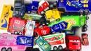 Игрушки Большая Коробка Тачки Молния Маквин и Грузовики Трейлеры Развивающие Мультики про Машинки