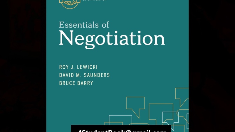 Test Bank for Essentials of Negotiation 7th Edition