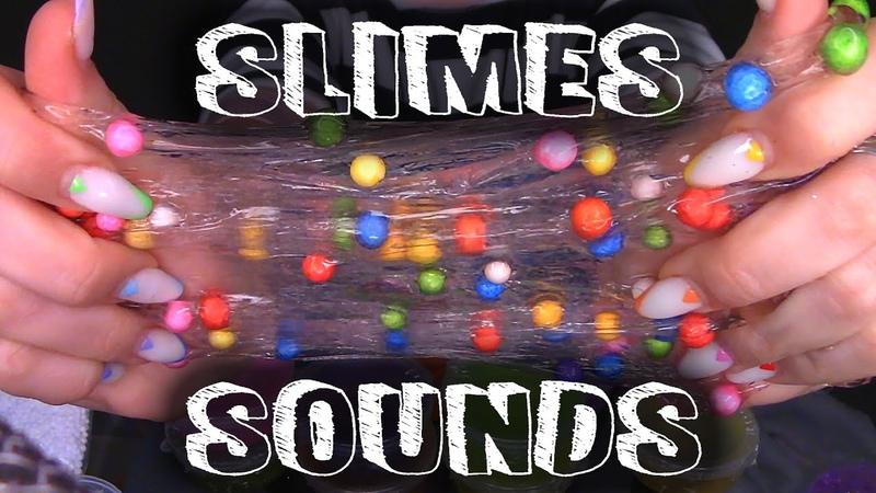 ASMR Satisfying Slime playing with slimes making slimes ASMR kotya