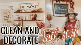FALL DECORATE WITH ME 2020 | FALL KITCHEN DECORATING +TIERED TRAY | FARMHOUSE FALL DECORATING IDEAS