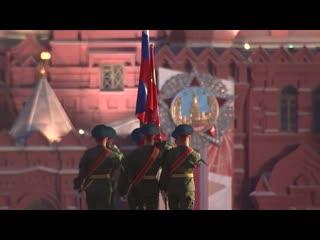 Кадры первой ночной репетиции Парада Победы на Красной площади
