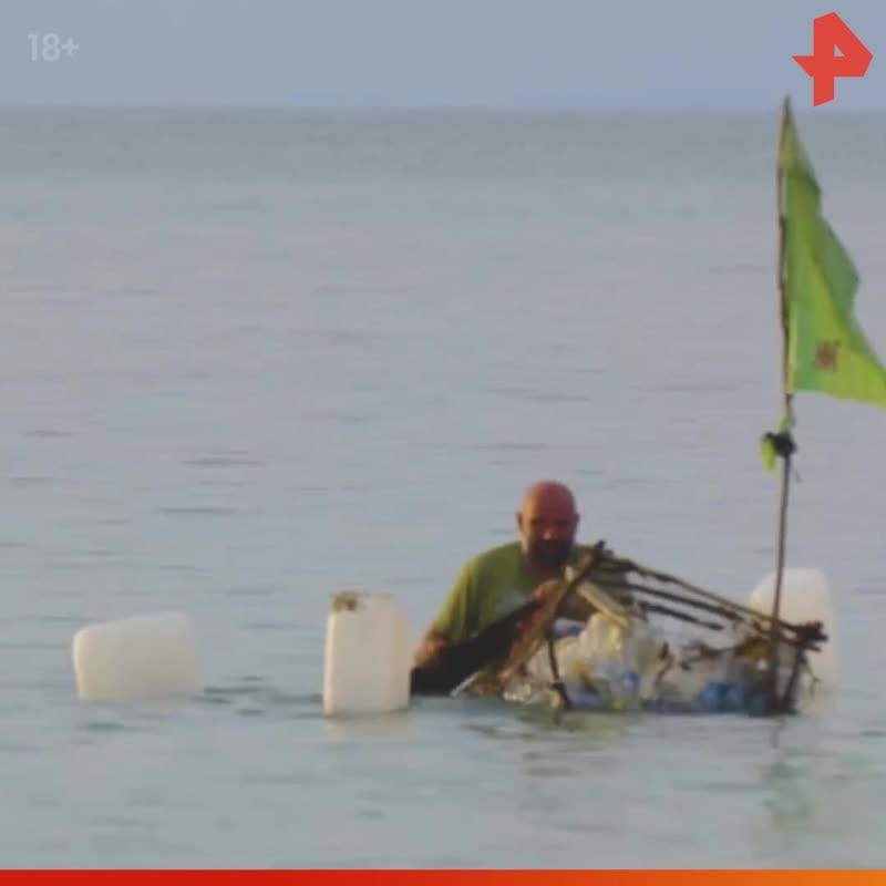 Тимофей Баженов собрал плот из мусора / #РЕНТВ