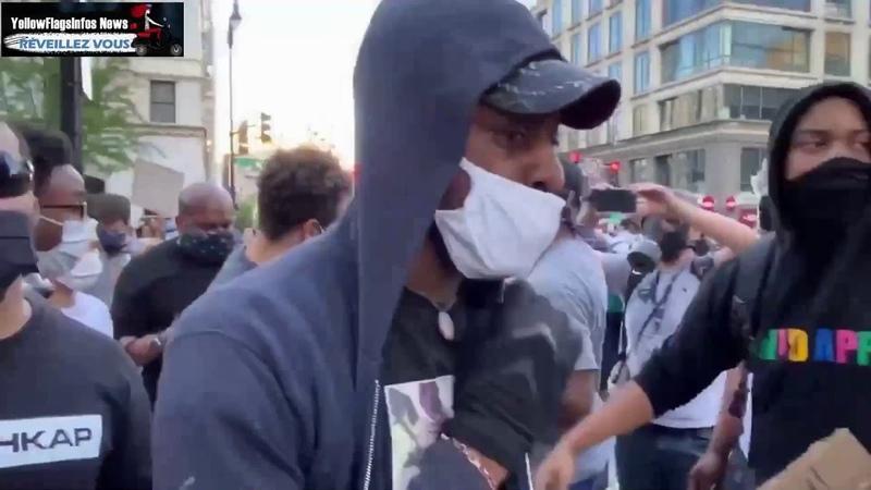Des manifestants pacifiques attrapent un Antifa et le livrent à la police