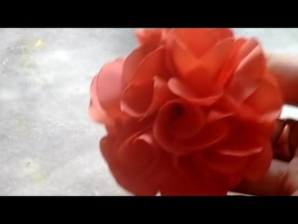 Flor camélia simples costurada Juliana Souza