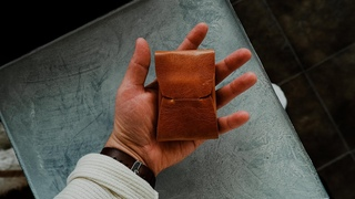 How to make a SEAMLESS LEATHER WALLET - FREE PATTERN