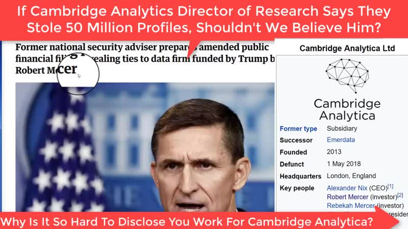 05 16 2018 May 16th 2018 How Bannon's Cambridge Analytica Set Up Flynn MI6 Dossier Bonanza