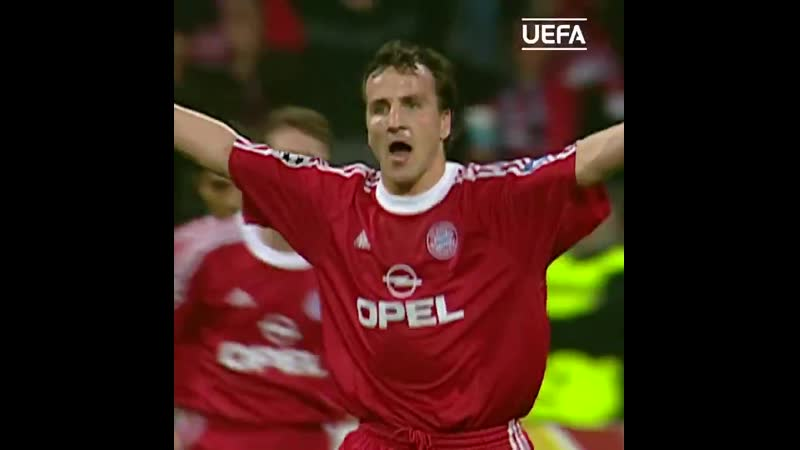 Йенс Йеремис забивает Реалу за Баварию в 2001 году