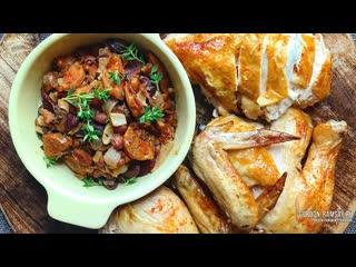 Жареный фаршированный цыпленок - рецепт Гордона Рамзи