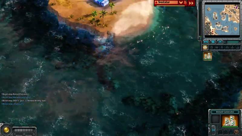 Basset НЕЧЕСТНЫЙ RED ALERT Матчи два против одного в Command and Conquer Red Alert 3 Remix Mod