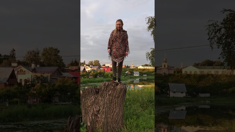 Sean nos step on a stump in Suzdal