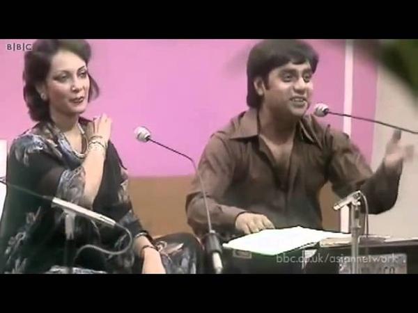 The Legends Jagjit Chitra Singh Kothe Te Aa Mahiya Punjabi Tappe recorded at BBC in 1979