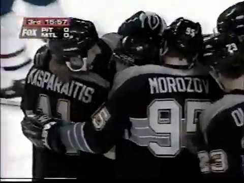 Alexei Morozov assists on Jagr game winner vs Canadiens (1997)