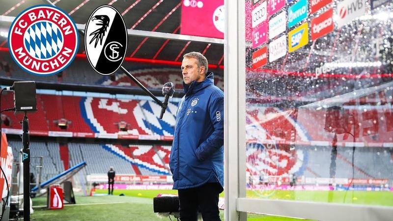 Haben diese Saison noch einiges vor Pressekonferenz mit Hansi Flick FC Bayern SC Freiburg