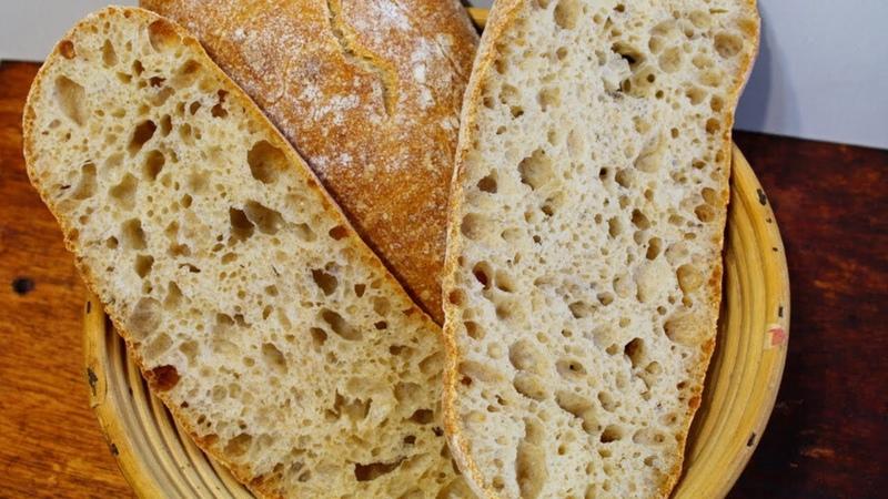 ЧИАБАТТА НА ЗАКВАСКЕ ✧ Секрет больших дырок в мякише ✧ Рецепт хлеб на закваске ✧ CIABATTA BREAD