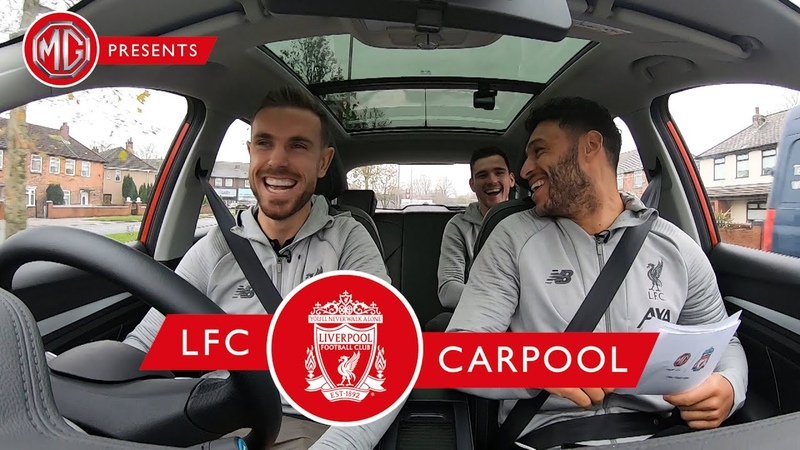 LFC Carpool is back Hendo Ox and Robbo take MG's new electric car for a spin