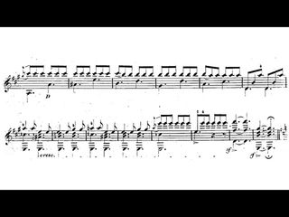 Johann Kaspar Mertz - Tarantella for Guitar (Score video)