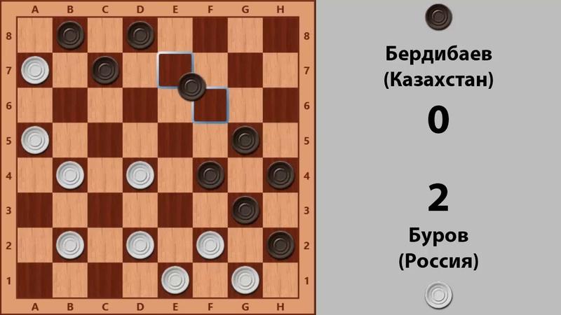 Буров Бердибаев Чемпионат Мира по Русским шашкам 1996