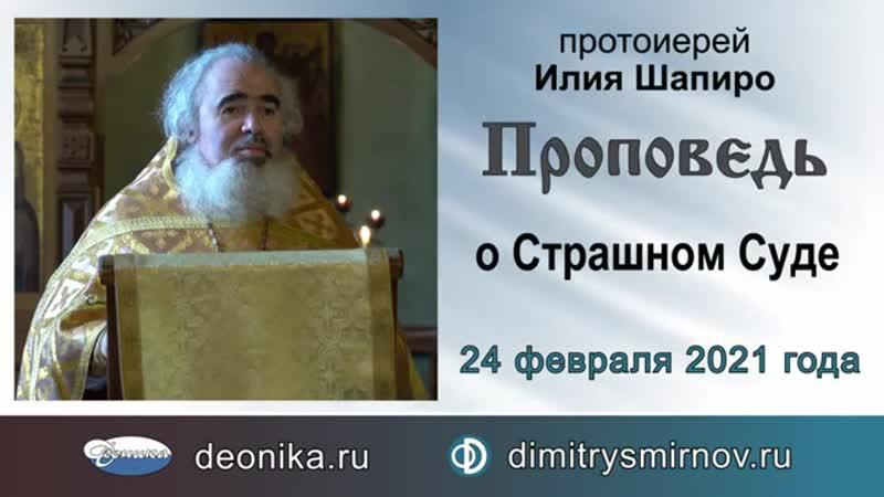 Проповедь о Страшном Суде (2021.02.24). Протоиерей Илия Шапиро