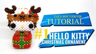How to Bead Hello Kitty Christmas Ornament Part 1/Diy/kerajinan Manik/Manik Mote