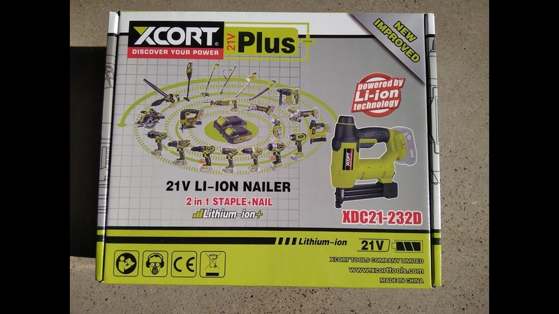 XCORT TOOLS XDC21 232D 21V LI ION NAILER NEW ITEMS 21v series one battery for all