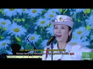 North Korean Moranbong Band_ One great family - Uma grande família - 하나의 대가정