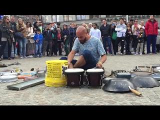 Incredible drummer in Amsterdam #Dario Rossi Drummer