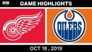 NHL Highlights Red Wings vs. Oilers – Oct. 18, 2019