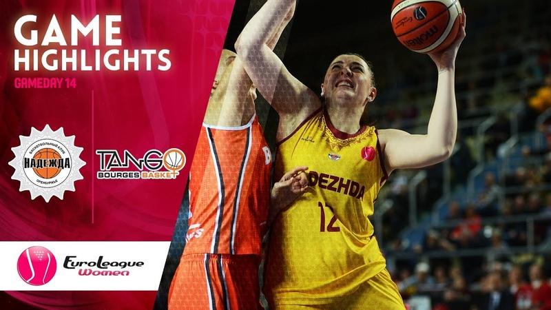 Nadezhda v Bourges Basket Highlights EuroLeague Women 2019 20