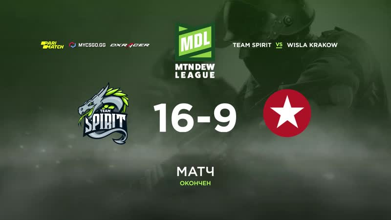 Team Spirit 16-9 Wisla Krakow